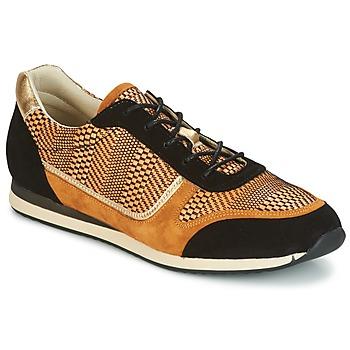 Schuhe Damen Sneaker Low Bocage LAURETTE Schwarz / Ocker