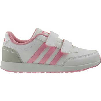 Schuhe Kinder Sneaker Low adidas Originals VS Switch 2 Cmf C Weiß-Grau-Rosa