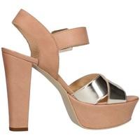 Schuhe Damen Sandalen / Sandaletten Emporio Di Parma 625 Leder / Platin