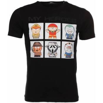 Kleidung Herren T-Shirts Local Fanatic Denim Overhemd Slim Army Print W Schwarz