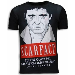 Kleidung Herren T-Shirts Local Fanatic Scarface Red Scar Strass Schwarz