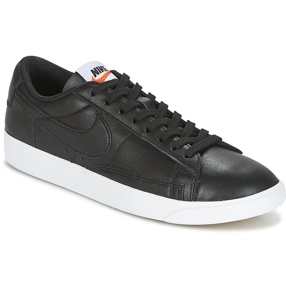 Nike BLAZER LOW LEATHER W Schwarz - Kostenloser Versand bei Spartoode ! - Schuhe Sneaker Low Damen 62,99 €