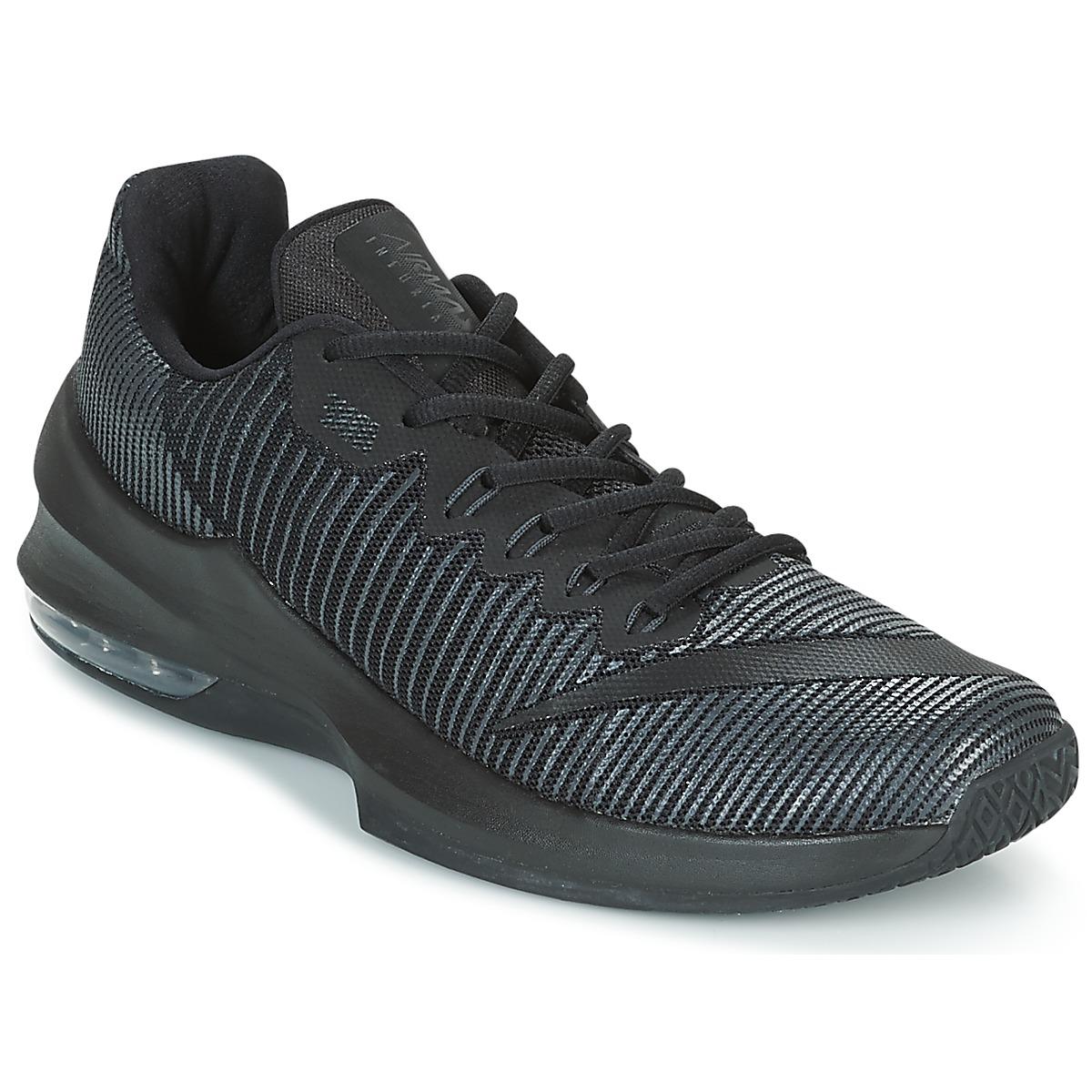 Nike AIR MAX INFURIATE 2 LOW Schwarz - Kostenloser Versand bei Spartoode ! - Schuhe Basketballschuhe Herren 55,99 €