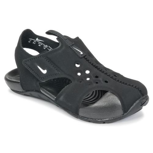 Schuhe Jungen Sandalen / Sandaletten Nike SUNRAY PROTECT 2 TODDLER Schwarz / Weiss