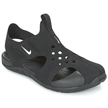 Schuhe Kinder Sandalen / Sandaletten Nike SUNRAY PROTECT 2 CADET Schwarz / Weiss