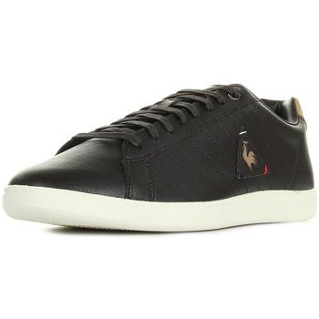 Schuhe Herren Sneaker Low Le Coq Sportif Courtcraft S Lea Braun