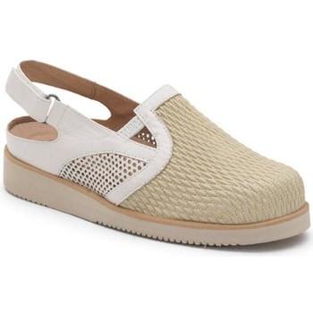 Schuhe Damen Pantoletten / Clogs Calzamedi VERANO PALA ELASTICA BEIGE