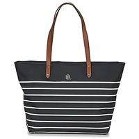 Taschen Damen Shopper / Einkaufstasche Lauren Ralph Lauren BAINBRIDGE TOTE Schwarz / Weiss