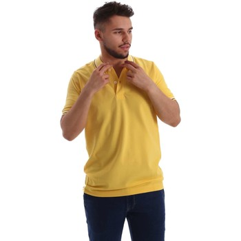 Kleidung Herren Polohemden Key Up 2Q70G 0001 Polo Man Yellow Yellow