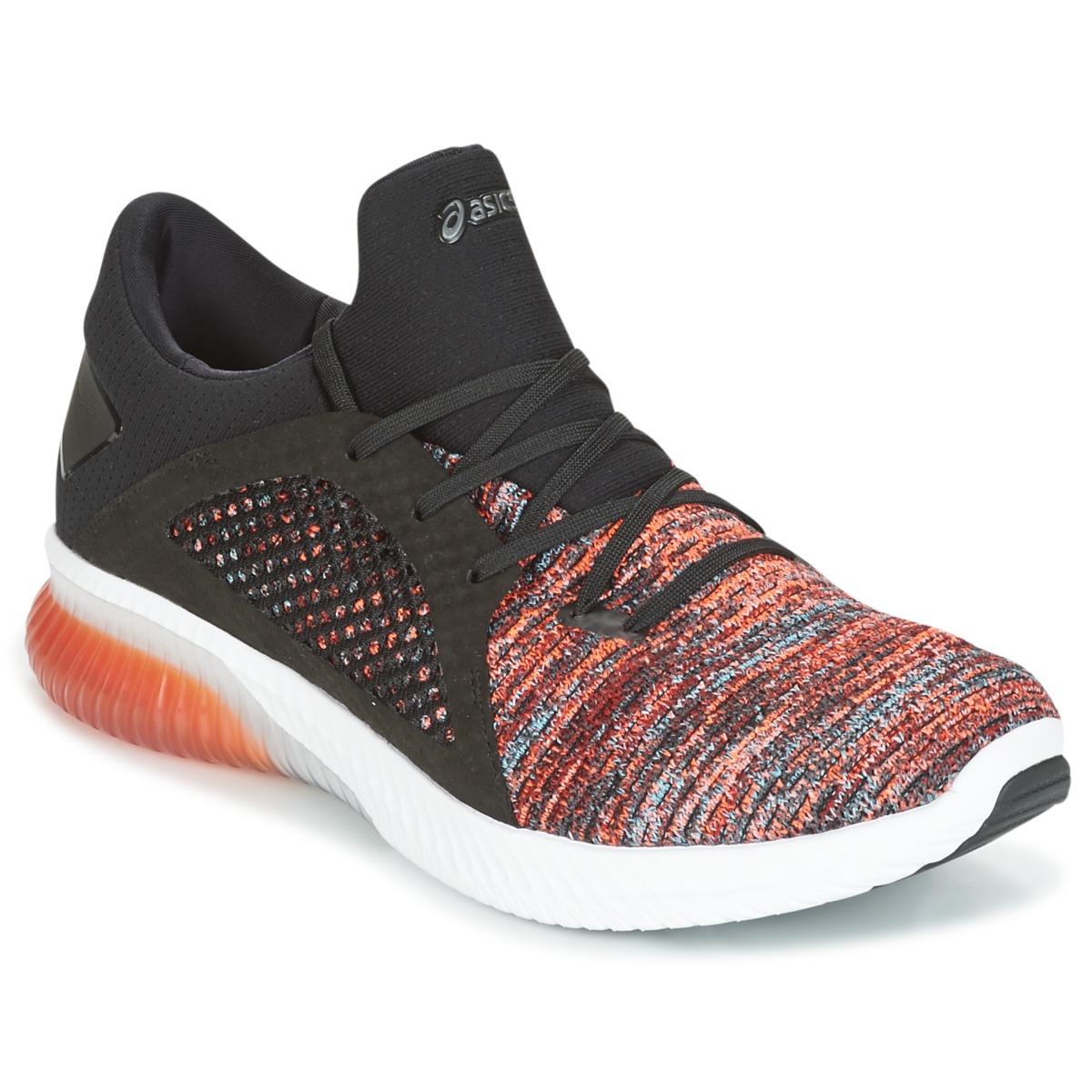Asics KENUN KNIT Orange / Schwarz - Kostenloser Versand bei Spartoode ! - Schuhe Sneaker Low Herren 67,60 €