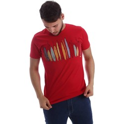 Kleidung Herren T-Shirts Key Up 216SG 0001 T-shirt Man Red Red