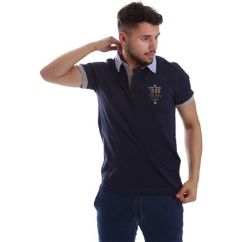 Kleidung Herren Polohemden Key Up 263RG 0001 Polo Man Blue Blue