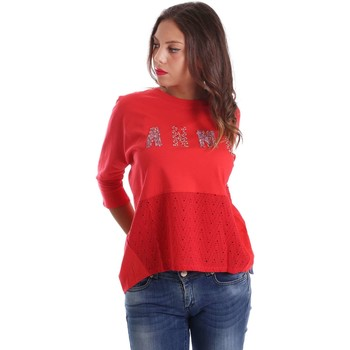 Kleidung Pullover Animagemella 17PEA150 T-shirt Frauen Rot Rot