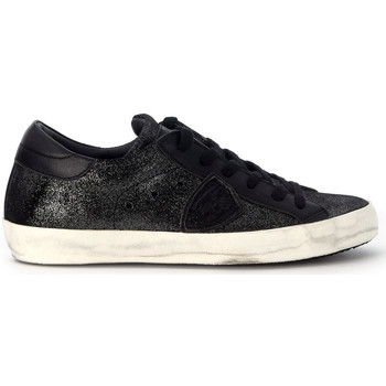 Schuhe Sneaker Low Philippe Model Paris Sneakers Paris in Leder Schwarz Schwarz