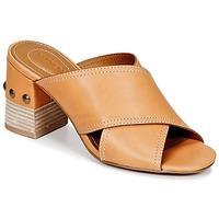 Schuhe Damen Pantoffel See by Chloé SB30083 Camel