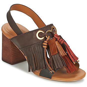 Schuhe Damen Sandalen / Sandaletten See by Chloé SB30102 Braun