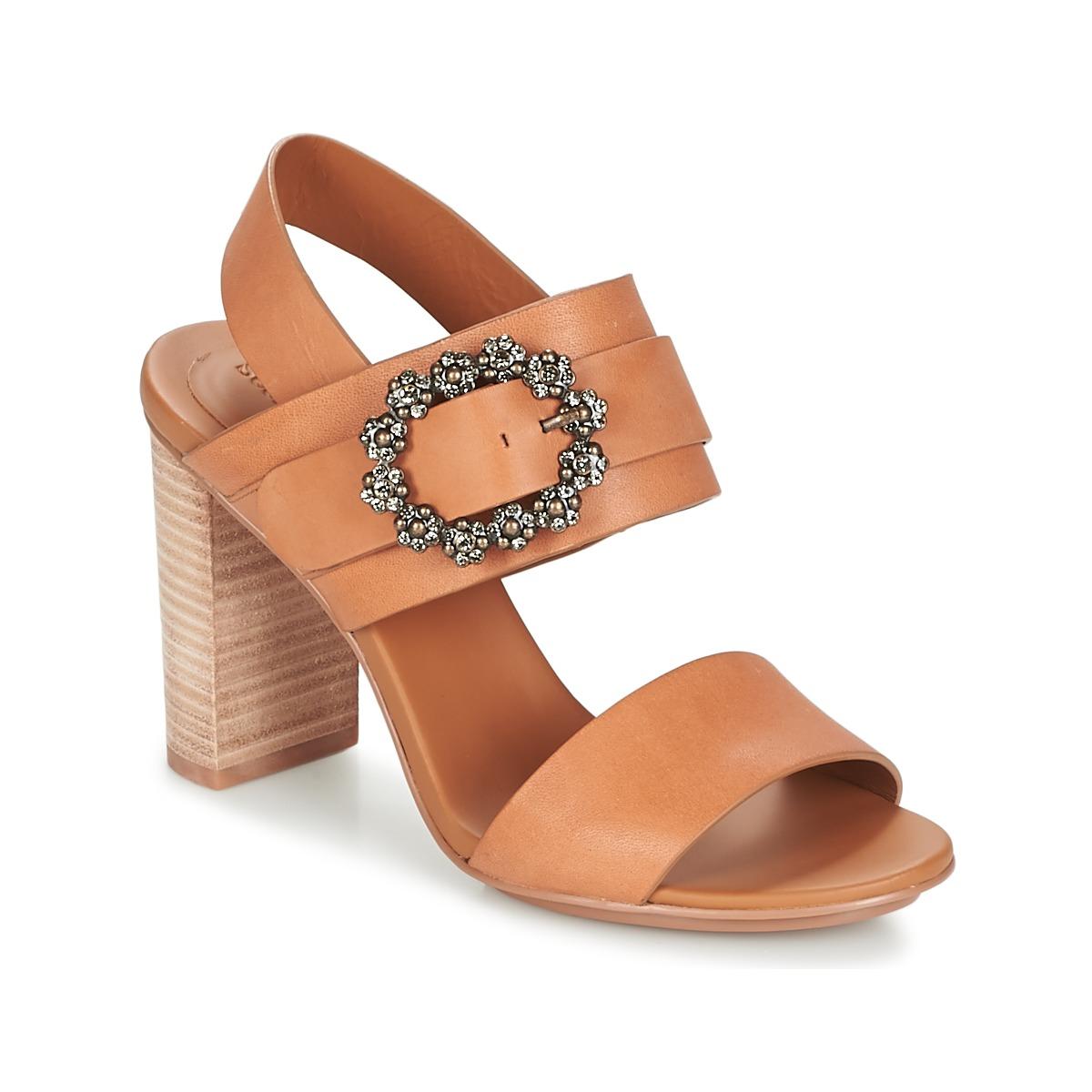 See by Chloé SB30123 Camel - Kostenloser Versand bei Spartoode ! - Schuhe Sandalen / Sandaletten Damen 206,50 €