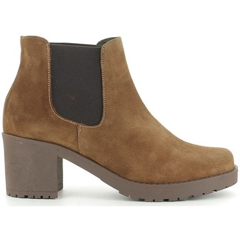 Schuhe Damen Low Boots Bryan 208 Marron