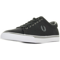 Schuhe Herren Sneaker Low Fred Perry Underspin Canvas Charcoal