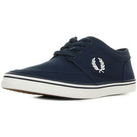 Schuhe Herren Sneaker Low Fred Perry Stratford Canvas Carbon Blue