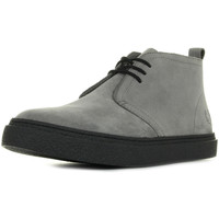 Schuhe Herren Boots Fred Perry Hawley Mid Suede Falcon Grey