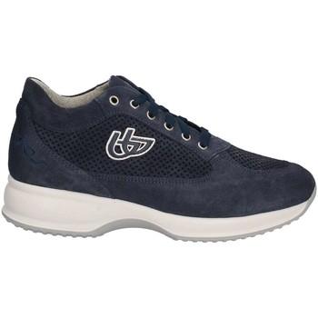 Schuhe Damen Sneaker Low Byblos Blu 672002 Schnurschuh Frauen Blau Blau