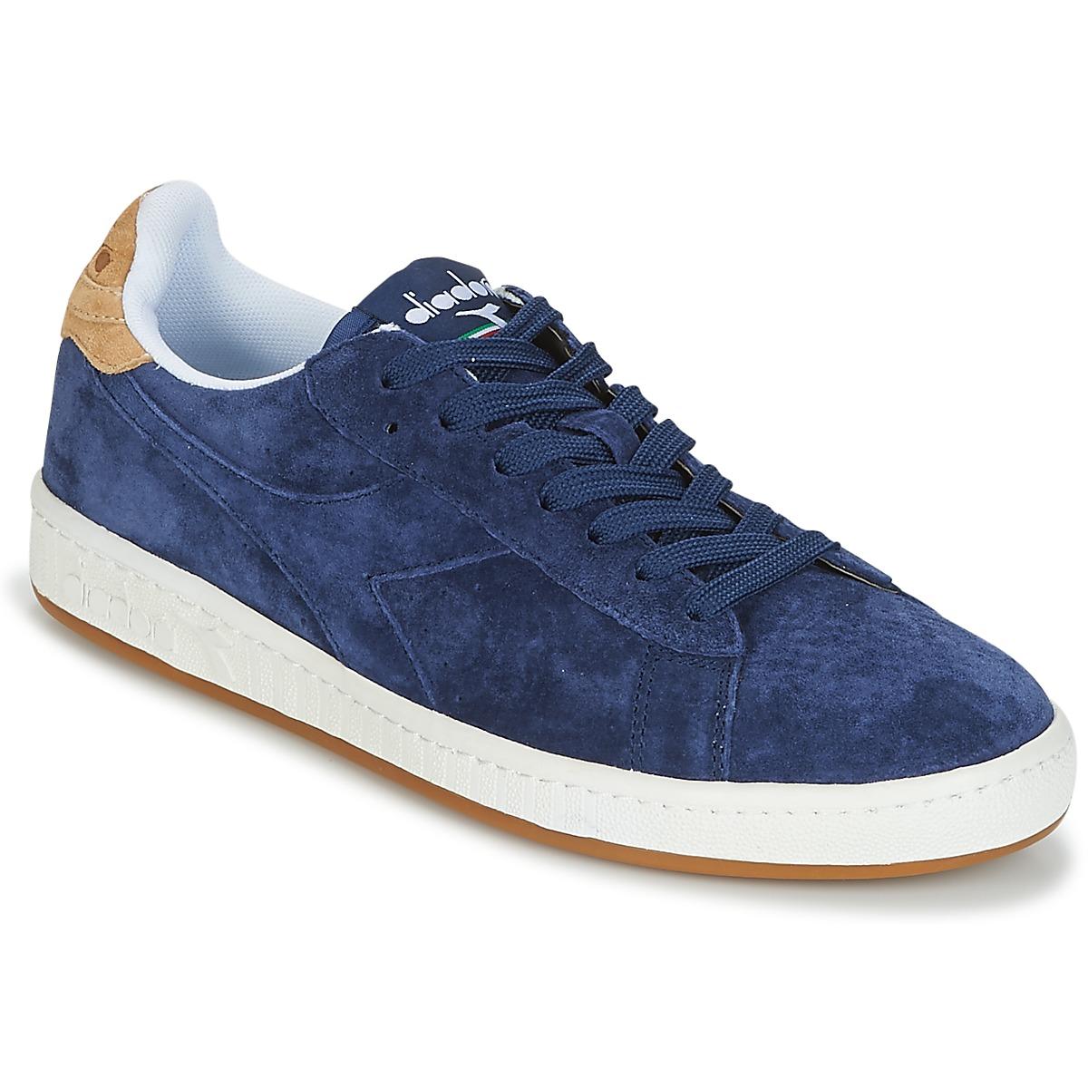 Diadora GAME LOW SUEDE Blau - Kostenloser Versand bei Spartoode ! - Schuhe Sneaker Low Herren 53,99 €