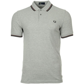Kleidung Herren Polohemden Fred Perry Twin Tipped  Steel Oxford Port Black