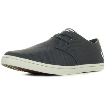 Schuhe Herren Sneaker Low Fred Perry Byron Low Twill Charcoal