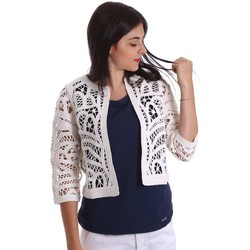 Kleidung Damen Jacken / Blazers Liu Jo F17129MA28F Strickjacke Frauen White White