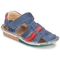 Schuhe Jungen Sandalen / Sandaletten El Naturalista KIRI Blau / Rot