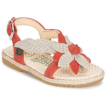 Schuhe Mädchen Sandalen / Sandaletten El Naturalista SAMOA Orange / Naturfarben