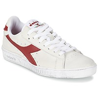 Schuhe Sneaker Low Diadora GAME L LOW WAXED Weiss / Rot