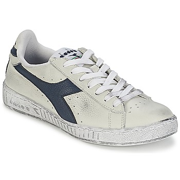 Schuhe Sneaker Low Diadora GAME L LOW WAXED Weiss / Blau