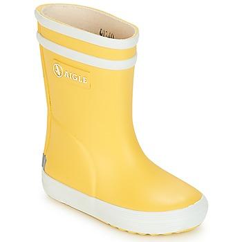Schuhe Kinder Gummistiefel Aigle BABY FLAC Gelb