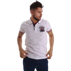 Kleidung Herren Polohemden Key Up 257QG 0001 Polo Man Bianco Bianco