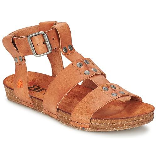 Schuhe Damen Sandalen / Sandaletten Art CRETA SPARA Camel