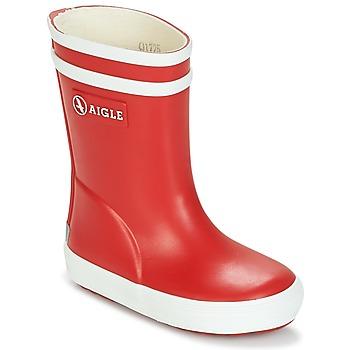 Schuhe Kinder Gummistiefel Aigle BABY FLAC Rot / Weiss