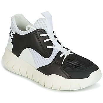 Schuhe Herren Sneaker Low Bikkembergs FIGHTER 2022 LEATHER Schwarz / Weiss