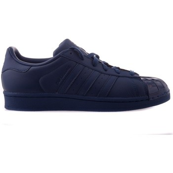 Schuhe Damen Sneaker Low adidas Originals Superstar Glossy Toe Dunkelblau