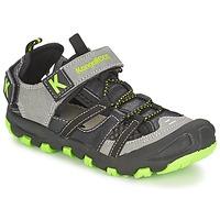 Schuhe Jungen Sandalen / Sandaletten Kangaroos KANGASPEED 2068 Schwarz / Grün