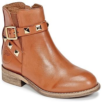 Schuhe Mädchen Boots Young Elegant People CELIAL Cognac