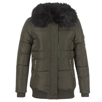 Kleidung Damen Daunenjacken Moony Mood HIPATI Kaki / Schwarz