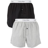 Kleidung Herren Boxershorts/Slips Calvin Klein Jeans Herren 2 Pack Logo Slim Fit Boxer, Mehrfarbig mehrfarbig