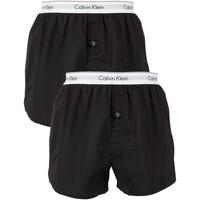 Kleidung Herren Boxershorts/Slips Calvin Klein Jeans Herren 2 Pack Logo Slim Fit Boxer, Schwarz schwarz