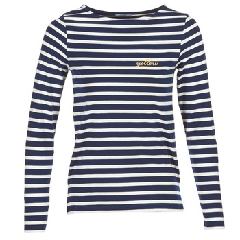 Kleidung Damen Langarmshirts Betty London IFLIGEME Marine / Weiss