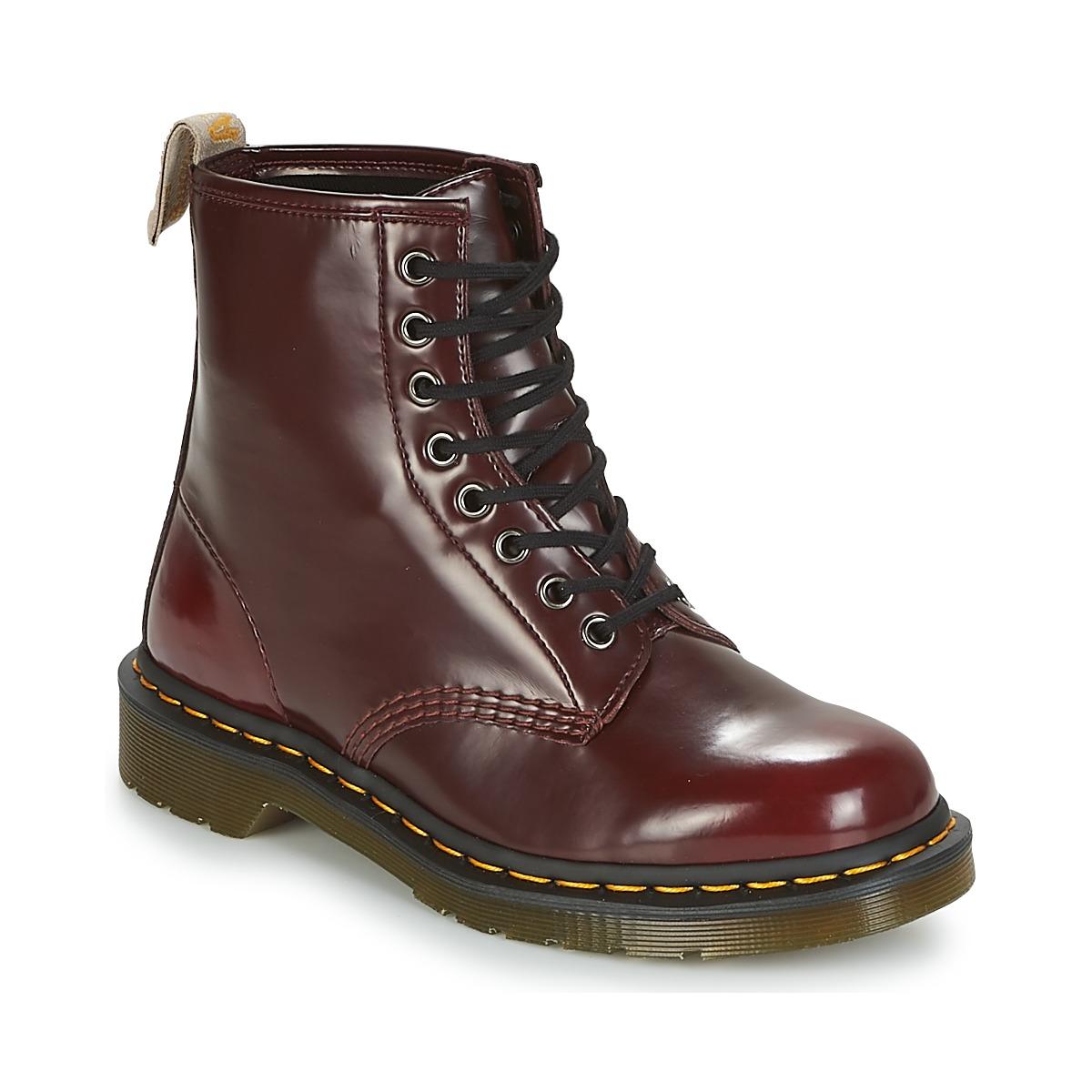 Dr Martens VEGAN 1460 Rot - Kostenloser Versand bei Spartoode ! - Schuhe Boots  140,00 €