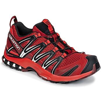 Schuhe Herren Laufschuhe Salomon XA PRO 3D Rot / Schwarz
