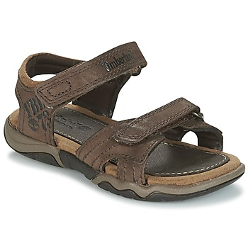 Schuhe Kinder Sportliche Sandalen Timberland OAK BLUFFS LEATHER 2STRAP Braun