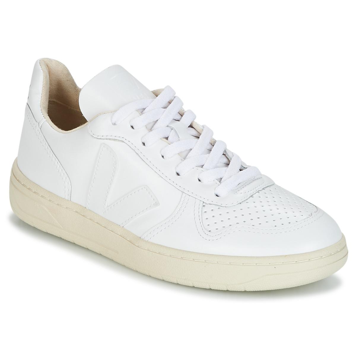 Veja V-10 Weiss - Kostenloser Versand bei Spartoode ! - Schuhe Sneaker Low  100,00 €